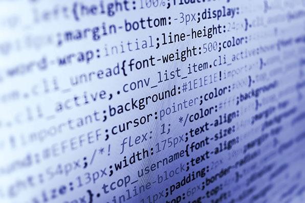 optimiertes html css code auf bildschirm